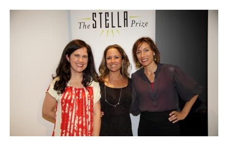Judge Annabel Crabb, Stella Prize 2014 winner Clare Wright and Claudia Karvan.